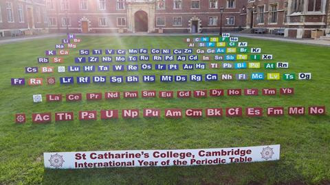 A picture showing the lawn in front of St Catherine's College, Cambridge