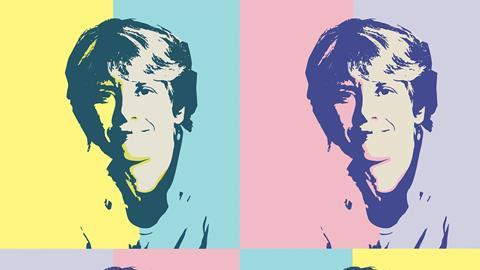 Carolyn Bertozzi in pop art style