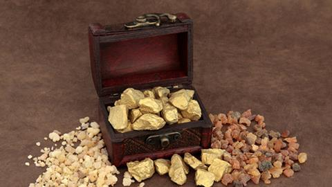 A chest of gold, frankincense and myrrh