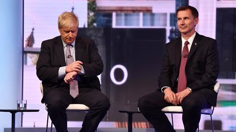 An image showing MP Boris Johnson and Secretary of State for Foreign Affairs Jeremy Hunt