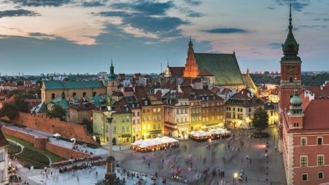 Warsaw, Poland - panoramic view