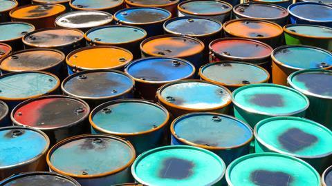 colourful oil barrels