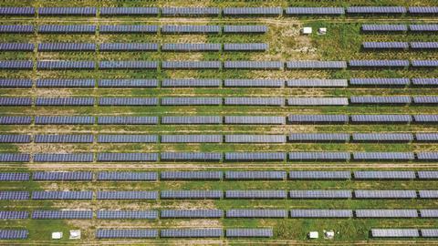 Solar plant near Beijing, China