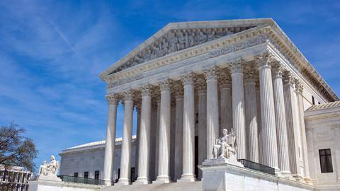 United States Supreme Court building in Washington, D.C., USA.