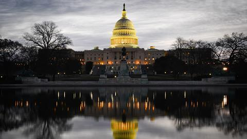 Capitol Building at dusk, Washington DC, USA