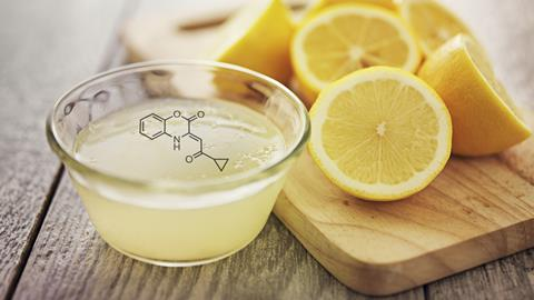 Lemon juice with compound structure