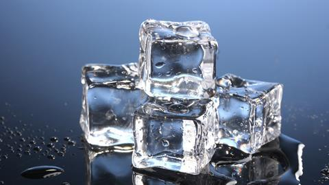 An image showing ice cubes