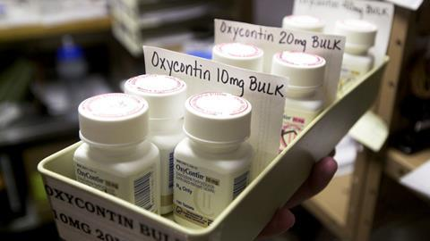 An image showing packs of oxycontin