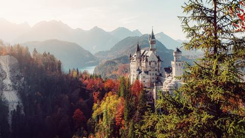 A photograph of Neuschwanstein castle, Bavaria