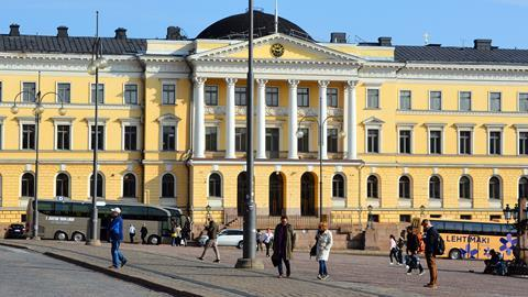 Helsinki government palace - panoramic view
