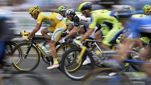 Cyclists competing in the 2014 Tour de France