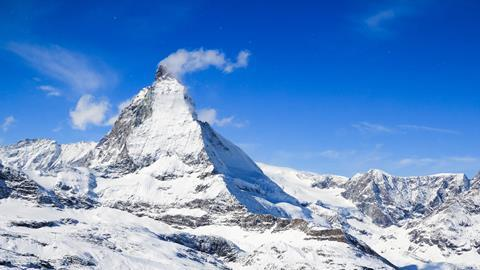 The Matterhorn, a mountain in the Swiss Alps