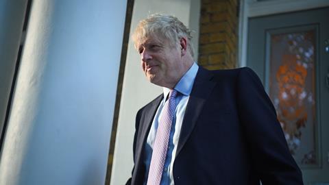 An image showing Boris Johnson
