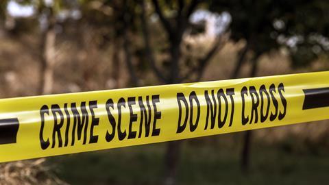 A photograph of crime scene tape