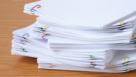 An image showing a stack of papers