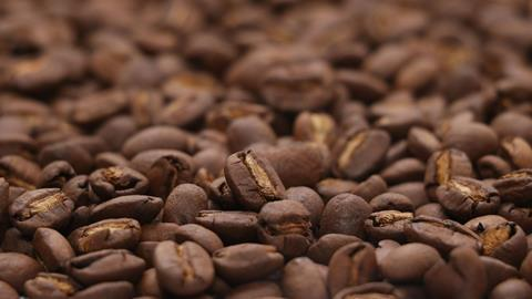 Making coffee background, closeup coffee bean isolated