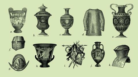 An image showing drawings of historical artefacts