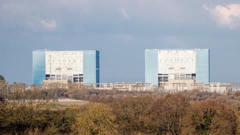 A photograph of the Hinkley Point nuclear power station