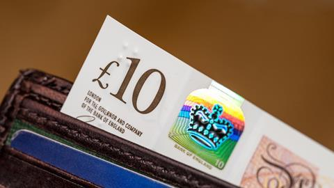 An image showing a £10 note