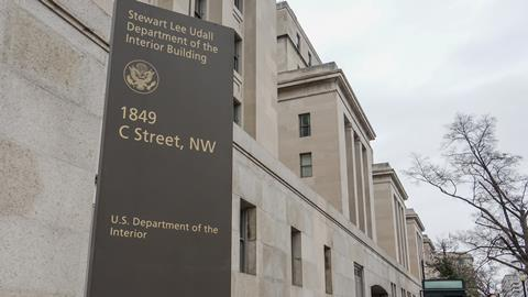 US Department of Interior headquarters, Washington DC, USA