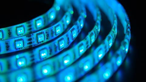 A strip of LED lights