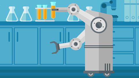 robot chemist illustration
