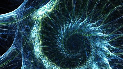 Abstract swirl electric pattern - Original