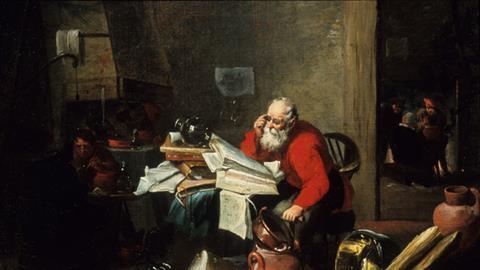 Alchemist at work by Mattheus van Helmont