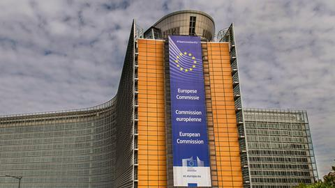 A picture showing the European Commission Building in Brussels, Belgium