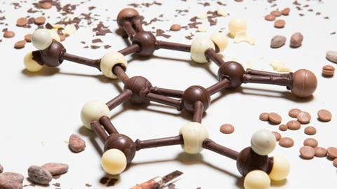 chocolate model of theobromine