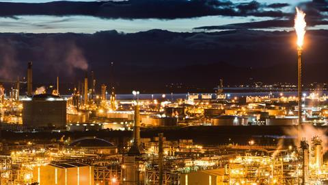 Grangemouth Refinery Scotland UK