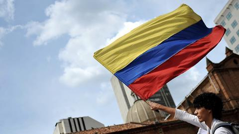 An image showing the flag of Colombia