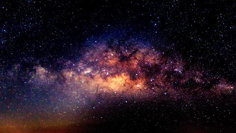 Milky way galaxy with stars and space dust