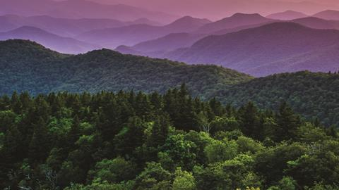 Appalachian mountains in North Carolina - hero