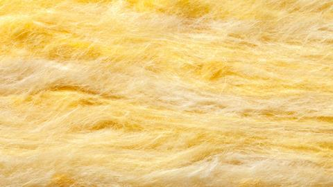 Close up image showing yellow cotton wool fibre