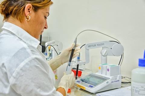 Center of Molecular Immunology lab worker