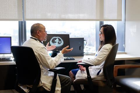 Principal investigator Grace Dy (and Kelvin Lee) at Roswell-led clinical trial