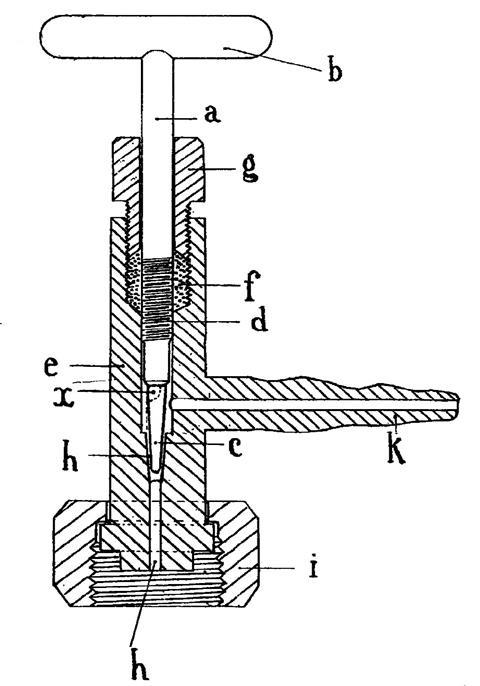 Le Rossignol original drawing of his conical valve