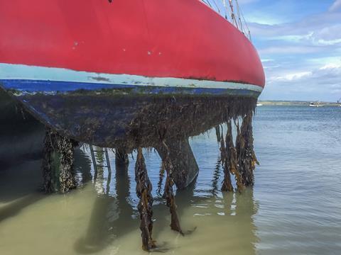 Heavily fouled hull