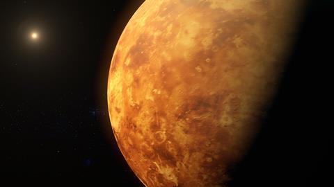 An illustration showing planet Venus