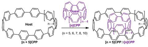 Onion-type carbon nanoring complex forming reactions