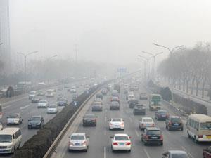 Beijing traffic and smog