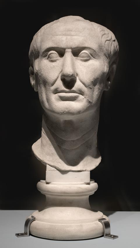 The Tusculum portrait, possibly the only surviving sculpture of Caesar made during his lifetime. Archaeological Museum, Turin, Italy