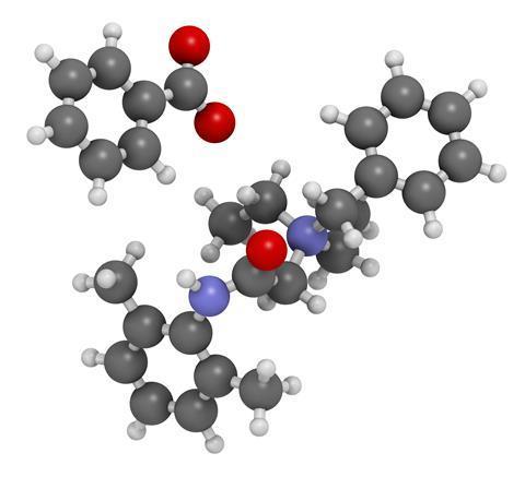 Denatonium benzoate molecule