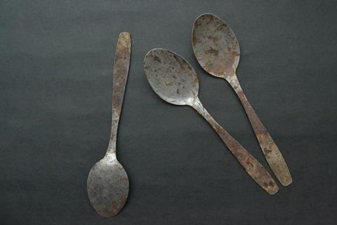 Rusty kitchen spoons
