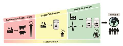 A scheme explaining how humans can change direction from a fossil-based and wasteful economy to a renewable and circular economy