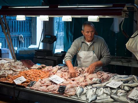 Venice fishmonger