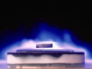 YBCO demonstrating magnetic levitation