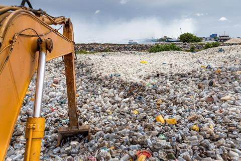 An image showing a plastic waste dump