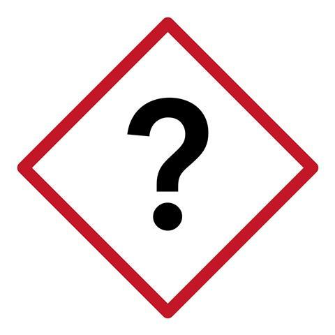 Image of a question mark warning sumbol